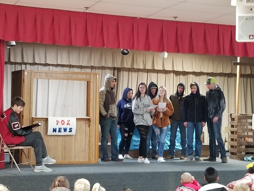 NHS Drama Performs for Elementary