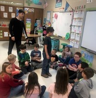 2nd Graders Learn From Student Teacher