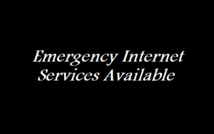 Emergency Internet Services Available