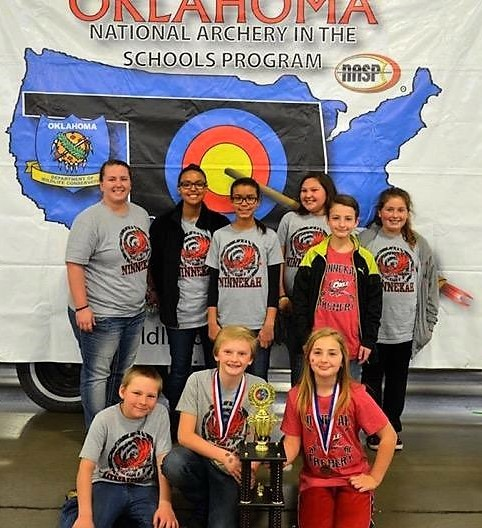 Ninnekah Middle School Archery Students