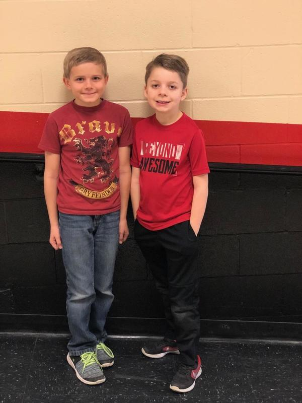 Spelling Bee Winners Jonah Cremer and Ryne Winsett